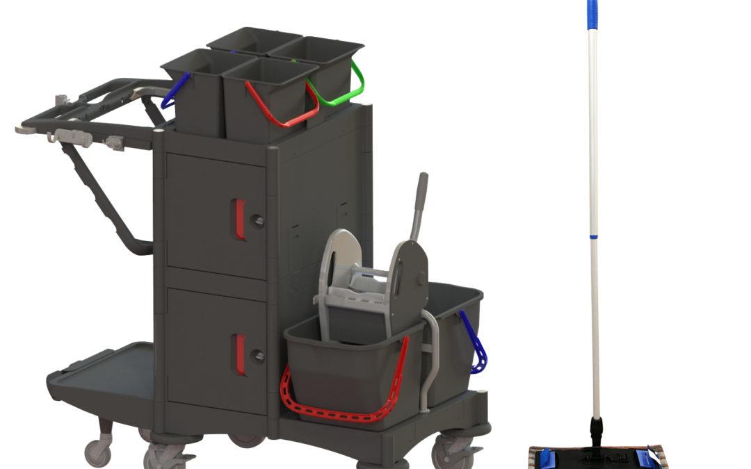 Chariot de ménage en EHPAD